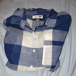 Plaid old navy button up shirt